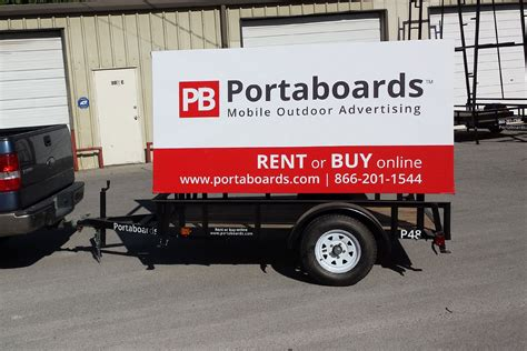 Outdoor Advertising Signs - Two-Sided Billboards | Portaboards