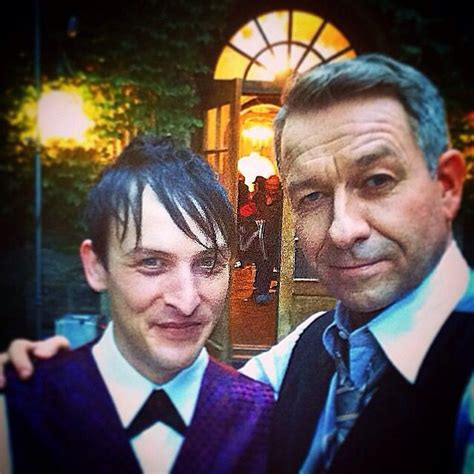 Gotham's Alfred (played by Sean Pertwee) and Penguin AKA
