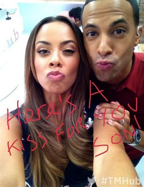 Rochelle and Marvin send a This Morning kiss to One