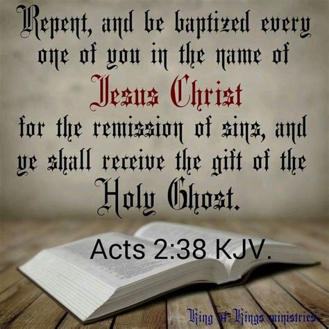 Acts 2:38 KJV | Inspirational bible quotes, Bible