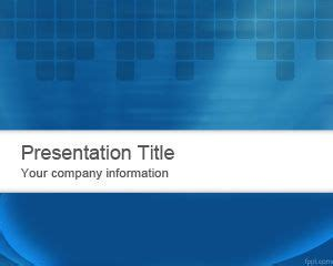 Free Blue Abstraction PowerPoint Template