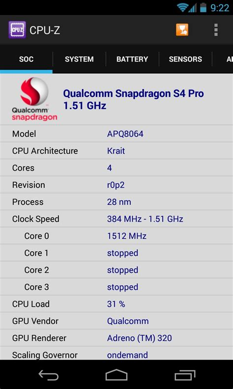 CPU-Z – Soft for Android 2018 – Free download