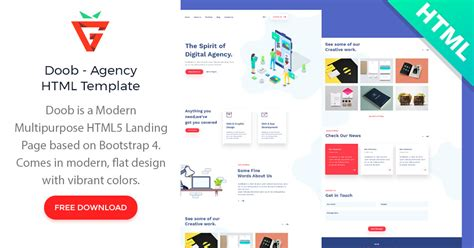 Doob - Free Agency HTML Template - graphberry