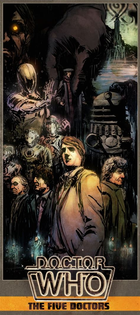 The Five Doctors daybill style poster by T-RexJones on