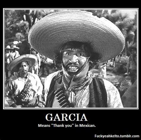 """Garcia means """"Thank you"""" 