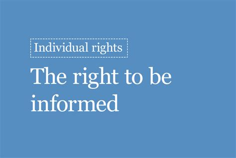 The right to be informed   ICO