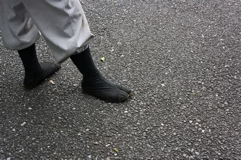 two-toed | I thought those two-toed shoes that ninjas wear