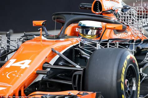 McLaren test out mini-wing on F1 'halo' ahead | Daily Mail