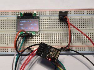 Connect an I2C SSD1306 OLED display and an ESP-01 (ESP8266)