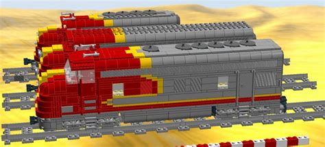 The Santa fe Super Chief inspired by Robert Carney - LEGO