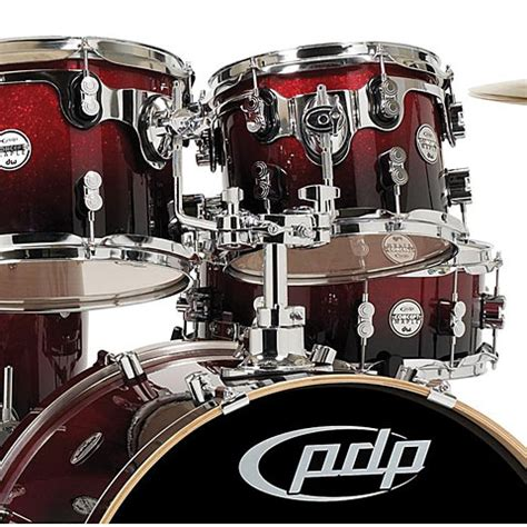 pdp Concept Maple CM7 Red to Black Sparkle Fade 10103096