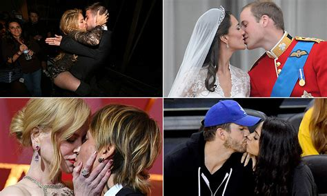 The best celebrity kisses: famous couples packing on the