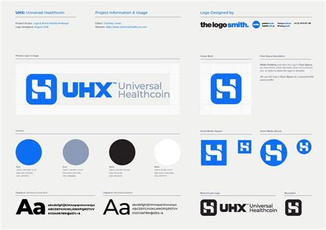 Logo Specification Sheet - 1 Page Illustrator Template for