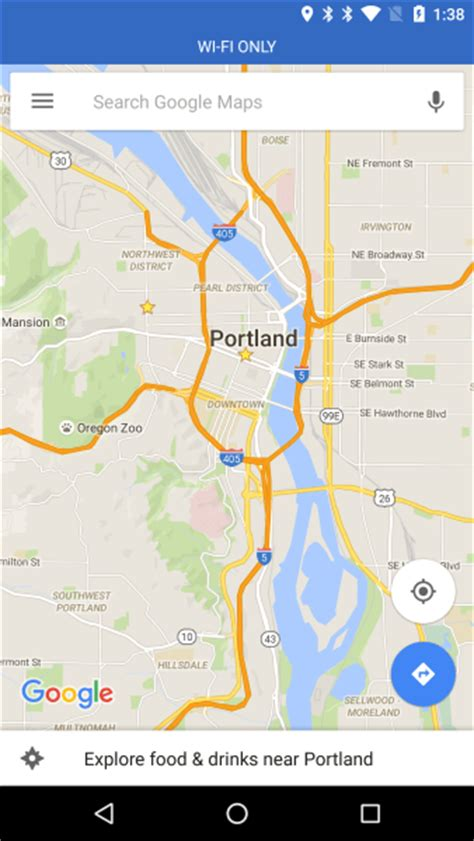 """Google Maps for Android to add """"WiFi-only"""" mode - Search"""