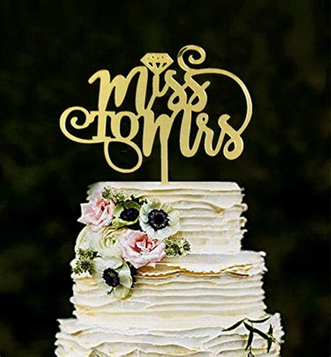 Miss To Mrs Acrylic Gold / Silver Mirror Bridal Shower